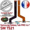 Samsung Galaxy SM-T521 C TAB PRO Chargeur Réparation Contact Connecteur SM Nappe ORIGINAL Charge Qualité MicroUSB Doré OFFICIELLE de T521