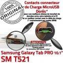 SM-T521 Micro USB TAB PRO C Samsung Réparation Doré MicroUSB SM Connecteur Qualité de T521 Nappe ORIGINAL Contact Chargeur Galaxy Charge OFFICIELLE