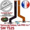 Samsung Galaxy SM-T525 C TAB PRO ORIGINAL SM MicroUSB OFFICIELLE Charge Réparation Connecteur Qualité Nappe Contact de Doré T525 Chargeur