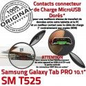 Samsung Galaxy SM-T525 C TAB PRO Connecteur OFFICIELLE ORIGINAL Nappe SM T525 Chargeur de MicroUSB Contact Réparation Doré Qualité Charge