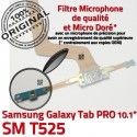 Samsung Galaxy SM-T525 C TAB PRO Chargeur Contact Connecteur de Réparation Doré SM Nappe ORIGINAL OFFICIELLE Charge MicroUSB Qualité T525