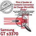 Samsung GT s3370 C Prise à Dorés souder Chargeur USB Connector charge Micro de ORIGINAL Flex Pins Connecteur Portable Dock