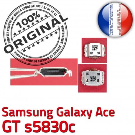 Samsung Galaxy ACE GT s5830c C charge Pins Connecteur Flex USB Dock Micro de ORIGINAL Prise Chargeur souder Connector à Dorés