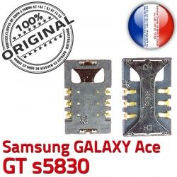 Pins GT Prise Ace SIM souder Connecteur s5830 à Reader SLOT Contacts Card Samsung Lecteur Dorés Carte S ORIGINAL Galaxy Connector