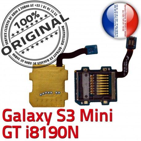 Samsung Galaxy S3 GT-i8190N SD Memoire Qualité ORIGINAL Connector Mini Carte Micro-SD Connecteur Lecteur Nappe Contact Read Doré