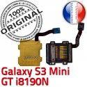 Samsung Galaxy S3 GT i8190N µSD Doré ORIGINAL Nappe Qualité Contact Carte Micro-SD SD Mini Connector Lecteur Read Memoire Connecteur