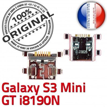 Samsung Galaxy S3 GT i8190N C ORIGINAL Flex souder Connector de Connecteur Dorés Micro Dock Prise USB à Mini charge Pins Chargeur
