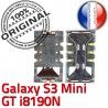 Samsung Galaxy S3 GT-i8190N SIM Connecteur Dorés Connector Lecteur ORIGINAL Pins Reader Card Carte à souder Contacts SLOT Mini