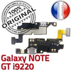 Connecteur Prise Galaxy Chargeur i9220 NOTE C MicroUSB RESEAU Qualité ORIGINAL Antenne Microphone Nappe Samsung Charge GT OFFICIELLE