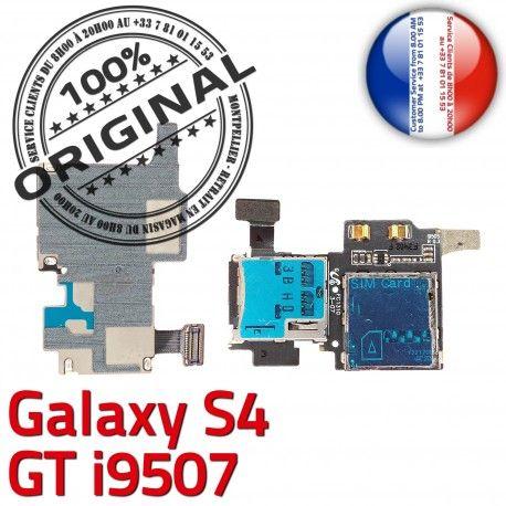 Samsung Galaxy S4 GT i9507 S Memoire SIM Dorés Nappe ORIGINAL Lecteur Connecteur Connector Contacts Micro-SD Reader Carte Qualité