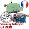 Samsung Galaxy S3 GT i939 S Lecteur Connector SIM Contacts Reader Nappe Micro-SD Carte Dorés ORIGINAL Connecteur Qualité Memoire