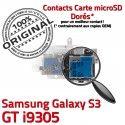 Samsung Galaxy S3 GT i9305 S SIM Connector Nappe Reader Carte Lecteur Qualité Contacts Dorés Connecteur Memoire Micro-SD ORIGINAL