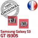 Samsung Galaxy S3 GT i9305 C Flex USB Pins à ORIGINAL Dock souder Dorés Micro de Connecteur Connector charge Chargeur Prise