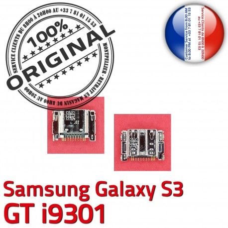 Samsung Galaxy S3 GT i9301 C ORIGINAL de Connecteur Flex charge Connector Prise souder Micro Pins Dock Chargeur à Dorés USB