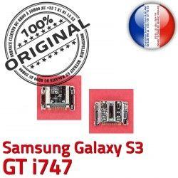Dorés Pins i747 à Dock Connecteur USB charge souder GT Prise S3 Flex Galaxy Connector Samsung Micro ORIGINAL C de Chargeur
