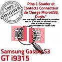 Samsung Galaxy S3 GT i9315 C Flex ORIGINAL Chargeur Connector Connecteur de charge Prise à Pins souder Micro Dorés USB Dock