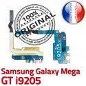 Samsung Galaxy MEGA GT i9205 C MicroUSB OFFICIELLE Prise Charge Qualité Nappe RESEAU Microphone Chargeur Connecteur ORIGINAL Antenne