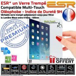 Lumière Vitre Bleue Multi-Touch iPad Oléophobe ESR 9H Trempé UV Verre 4 Anti-Rayures Protection Ecran A1459 Apple Chocs Filtre