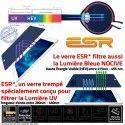 Verre Trempé Apple iPad A1476 H Multi-Touch Chocs Ecran Oléophobe Protection UV Filtre Anti-Rayures AIR Bleue Vitre Lumière ESR