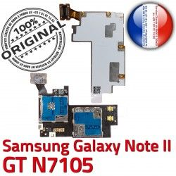 Lecteur II GT Connector NOTE Memoire N7105 Samsung Connecteur NOTE2 SIM Qualité Galaxy Nappe ORIGINAL S Carte Reader Doré Micro-SD Contact