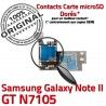 Samsung Galaxy NOTE2 GT N7105 S Connector Reader SIM Doré Qualité Contact II NOTE ORIGINAL Connecteur Memoire Carte Nappe Micro-SD Lecteur