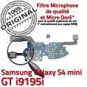 Samsung Galaxy S4 Min GTi9195i C Microphone Charge Qualité MicroUSB Prise i9195i Antenne S Nappe RESEAU Connecteur 4 Chargeur ORIGINAL OFFICIELLE