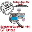 Samsung Galaxy S4 Duo GT i9192 s Micro-SD ORIGINAL Contact Doré Carte SIM Lecteur Connecteur Duos Connector Nappe Memoire Mini Qualité