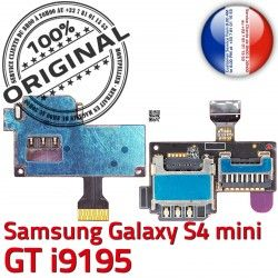Mini ORIGINAL Nappe i9195 Contact SIM GT Micro-SD Qualité Galaxy Carte Read S Doré Connecteur Samsung Lecteur S4 Min Memoire Connector