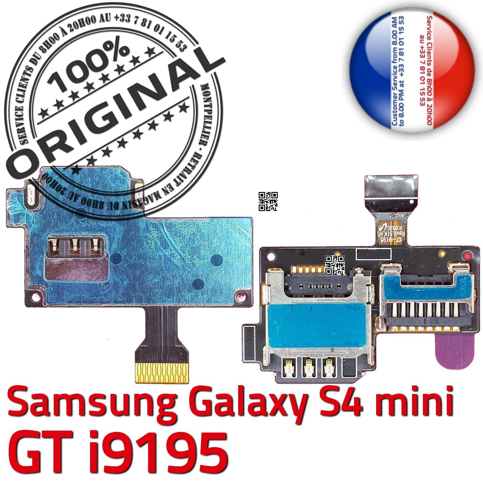 original samsung galaxy s4 mini gt i9195 lecteur carte memoire sim micro sd connecteur contact. Black Bedroom Furniture Sets. Home Design Ideas