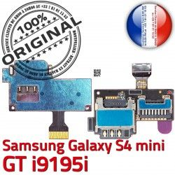Mini Galaxy Contact Connecteur Memoire Samsung SIM GT Micro-SD S4 Nappe i9195i Qualité Connector i9195iLecteur Doré Carte Read S ORIGINAL
