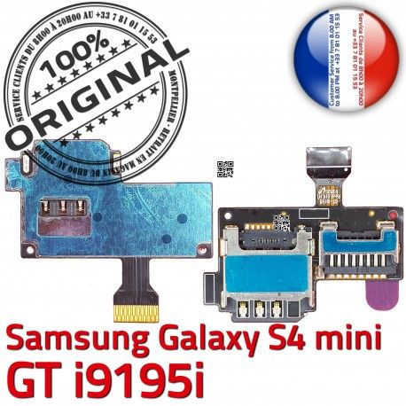 Samsung Galaxy S4 GT i9195i S Read Qualité Doré Memoire Micro-SD Connector Connecteur Contact SIM ORIGINAL i9195iLecteur Carte Mini Nappe