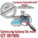 Samsung Galaxy S4 GT i9195i S i9195iLecteur Contact Doré Memoire Nappe ORIGINAL Read Connector Micro-SD Qualité Carte SIM Connecteur Mini