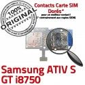 Samsung ATIV S GT i8750 Memoire Reader Micro-SD Qualité Contacts Connecteur Carte Dorés ORIGINAL Lecteur SIM Connector Nappe