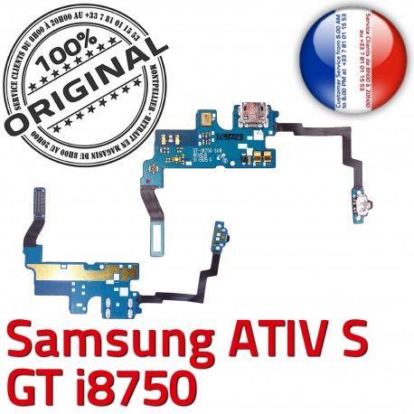 Samsung ATIV S GT i8750 C Nappe Connecteur Chargeur OFFICIELLE MicroUSB ORIGINAL Prise Microphone Qualité Antenne Charge RESEAU