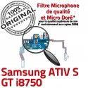 Samsung ATIV S GT i8750 C Microphone Qualité Nappe Connecteur RESEAU Prise Charge OFFICIELLE MicroUSB Chargeur Antenne ORIGINAL