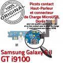 Samsung Galaxy S2 GT i9100 C OFFICIELLE Qualité Prise Antenne Microphone Chargeur Connecteur Nappe RESEAU ORIGINAL Charge MicroUSB