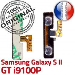 à Connector souder V Pins 2 i9100P Volume S2 Bouton S Circuit Samsung GT Connecteur OR Nappe ORIGINAL Switch Son Contacts SLOT Dorés Galaxy
