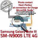 Samsung Galaxy NOTE3 SM N9005 C Microphone ORIGINAL Qualité Antenne Chargeur MicroUSB Charge OFFICIELLE Nappe Connecteur LTE RESEAU