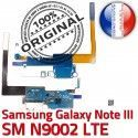 Samsung Galaxy NOTE3 SM N9002 C LTE RESEAU Microphone Antenne Chargeur ORIGINAL Nappe Qualité OFFICIELLE Charge Connecteur MicroUSB