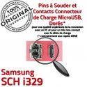Samsung SCH i329 C Portable Pins à souder ORIGINAL de Connector Connecteur charge Chargeur Prise Micro Dock Dorés Flex USB