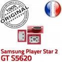 Samsung Player STAR 2 GT s5620 C Dock Pins ORIGINAL Connector souder Micro Chargeur Prise Flex à de charge Connecteur USB Dorés