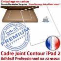 PACK iPad 2 A1395 Joint B HOME Réparation Cadre PREMIUM iPad2 Verre Apple Vitre Ecran Adhésif Precollé Tactile Bouton Blanche Tablette
