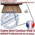 PACK iPad 3 A1430 Joint N Vitre Noire Cadre Tablette Réparation PREMIUM Tactile Apple Verre Chassis iPad3 Adhésif HOME Precollé KIT Bouton