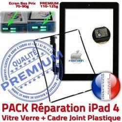 N PACK Precollé Noire Tactile Réparation Apple HOME Adhésif PREMIUM Vitre Verre Bouton Tablette iPad4 Cadre 4 Chassis iPad Contour KIT Joint