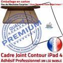 PACK iPad4 Joint Nappe N KIT Plastique Tactile Noire Réparation Bouton Apple iPad Vitre Cadre HOME 4 Precollé PREMIUM Tablette Verre Adhésif