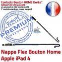 PACK A1460 Joint Nappe N Tablette Apple HOME KIT Noire Contour Verre Vitre Cadre iPad4 Plastique Bouton Tactile Réparation Adhésif Precollé