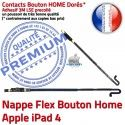 PACK A1459 Joint Nappe B Réparation iPad4 Vitre KIT Contour Apple Plastique Blanche Bouton HOME Adhésif Tactile Verre Precollé Tablette Cadre
