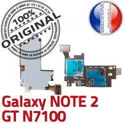 N7100 Reader SIM Samsung Contact S1 Connecteur Lecteur Galaxy Connector Memoire Carte Qualité Nappe Doré GT NOTE2 Micro-SD ORIGINAL
