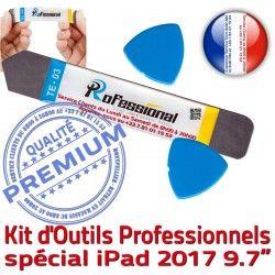 KIT Remplacement PRO iSesamo 2017 iPad Vitre Démontage Compatible Qualité Réparation iLAME Tactile Professionnelle A1822 A1823 Outils Ecran