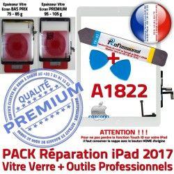 PREMIUM Réparation A1822 Qualité Outils Nappe PACK Precollé Tactile iPad Oléophobe Vitre KIT HOME Adhésif AIR Blanche B Bouton Verre